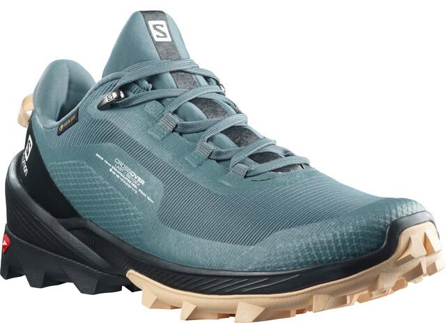 Salomon Cross Over GTX Shoes Women, stormy weather/black/almond cream